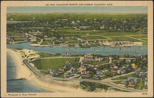 Air View, Falmouth Heights and Harbor, Falmouth, Mass.