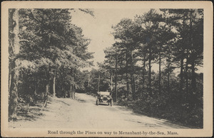 Road through the Pines on way to Menauhant-by-the-Sea, Mass.