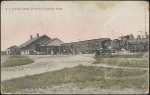 R. R. Station Scene at North Falmouth, Mass.