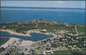 Air View New Silver Beach, Wild Harbor and Nyes Neck, North Falmouth, Mass., on Cape Cod