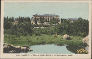 Fasset Estate from Beach-Drive, West Falmouth, Mass.