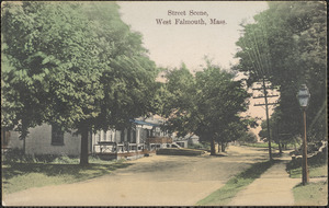 Street Scene, West Falmouth, Mass.