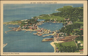 Air View, Woods Hole, Falmouth, Mass.