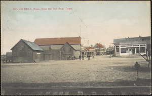 Woods Hole, Mass. From the Rail Road Depot