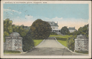 Entrance to Whittemore Estate, Falmouth, Mass.