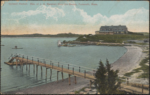 Quisset Harbor, Res. of J. G. Marshall from the Beach, Falmouth, Mass.