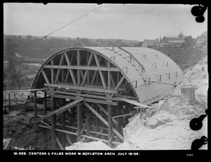 Wachusett Reservoir, West Boylston Arch, centers and false work, West Boylston, Mass., Jul. 18, 1904
