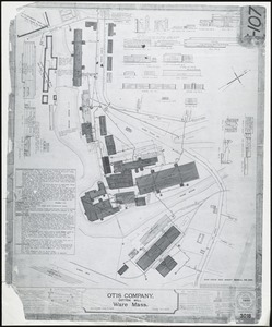 Otis Company, Cotton Mill, Ware, Mass. [insurance map]