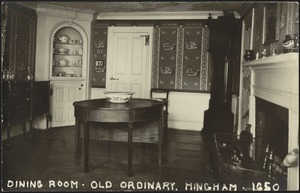 Dining room-Old Ordinary. Hingham 1650