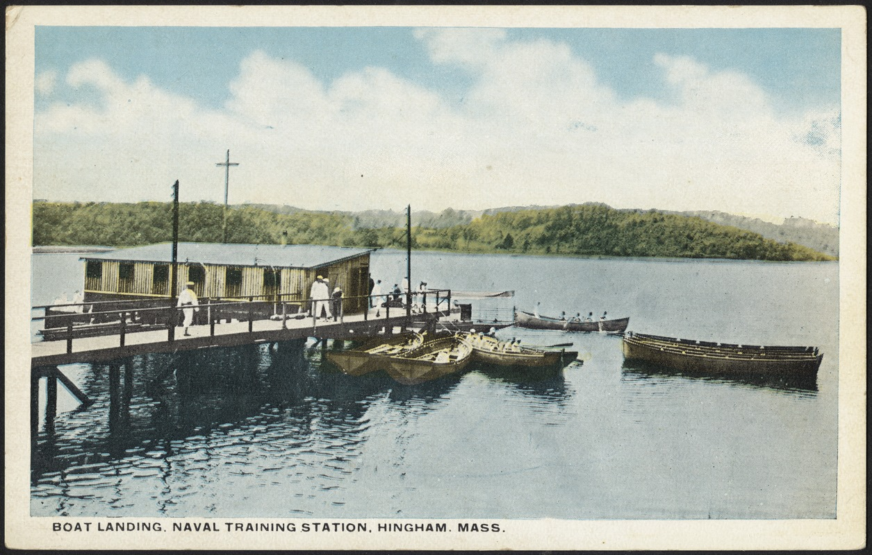 Boat landing, Naval Training Station, Hingham, Mass.