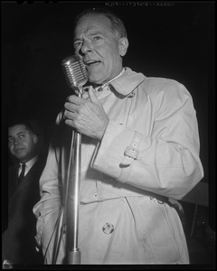 Henry Cabot Lodge, Jr. speaking with microphone
