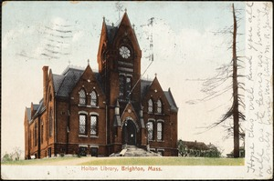 Holton Library, Brighton, Mass.
