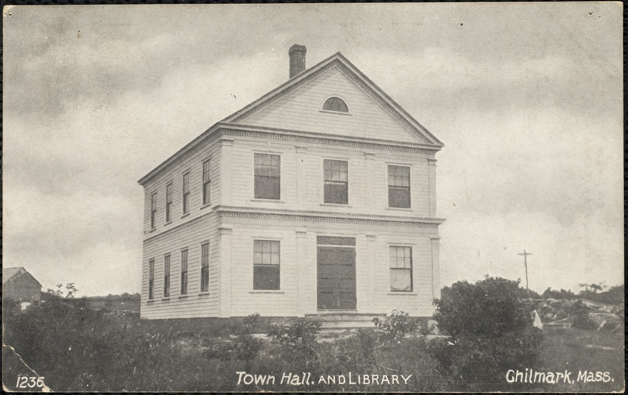 Town hall and library, Chilmark, Mass.