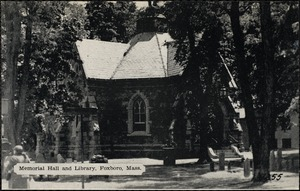 Memorial Hall and library, Foxboro, Mass.