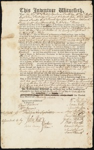 Document of indenture: Servant: Wilks, John. Master: French, Thomas. Town of Master: Conway