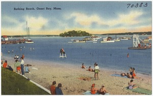Bathing beach, Onset Bay, Mass.