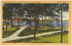 Waterfront Park and band stand, Onset Bay, Mass.