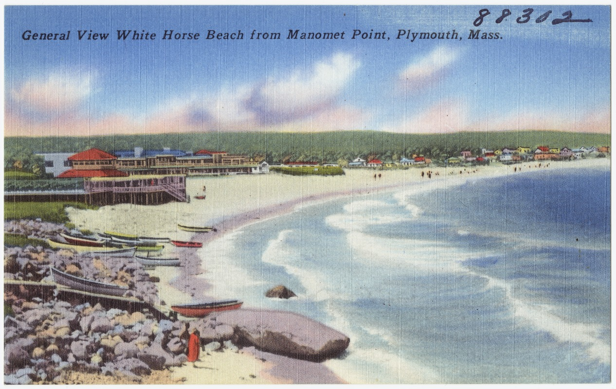 General View White Horse Beach From Manomet Point Plymouth Mass Digital Commonwealth