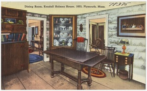 Dining room, Kendall Holmes house, 1653, Plymouth, Mass.
