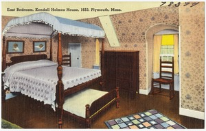 East bedroom, Kendall Holmes house, 1653, Plymouth, Mass.