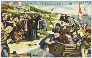 Departure of the Pilgrims from Delft Haven, 1620