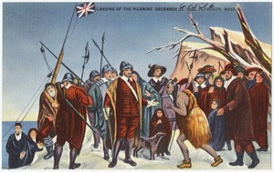 Landing of the pilgrims, December 21, 1620. Plymouth, Mass.