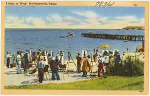 Artists at work, Provincetown, Mass.