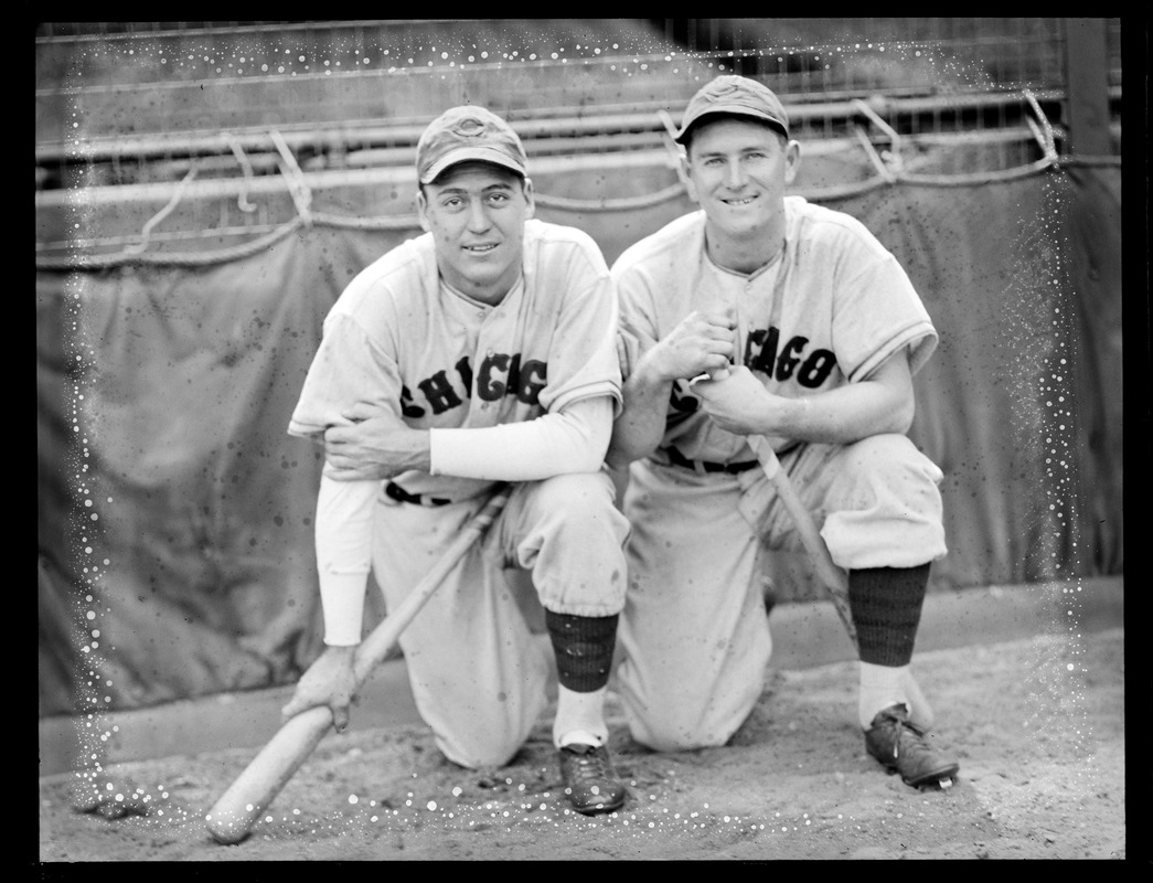 Billy Herman and Frank Demaree of the Cubs