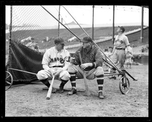 Burleigh Grimes and Dazzy Vance, two of the oldest spit ball pitchers and only these two allowed to throw it