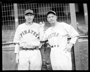 Pie Traynor, Pirates, and Bill McKechnie, Bees manager
