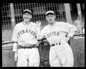 Pie Traynor, Pittsburgh, with Bees manager Bill McKechnie