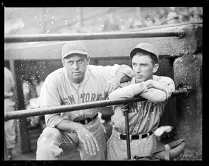 Bill Terry and Carl Hubbell of the Giants