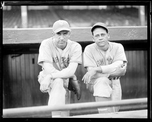 Carl Hubbell and Gus Mancuso, NY Giants
