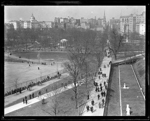 Baseball field, Boston Common, about to be turned into underground garage