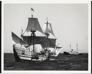 Mayflower II off Nantucket lightship