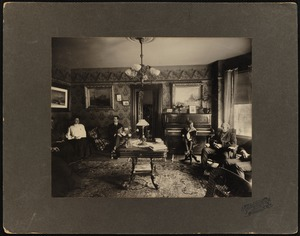 Interior view of a drawing room