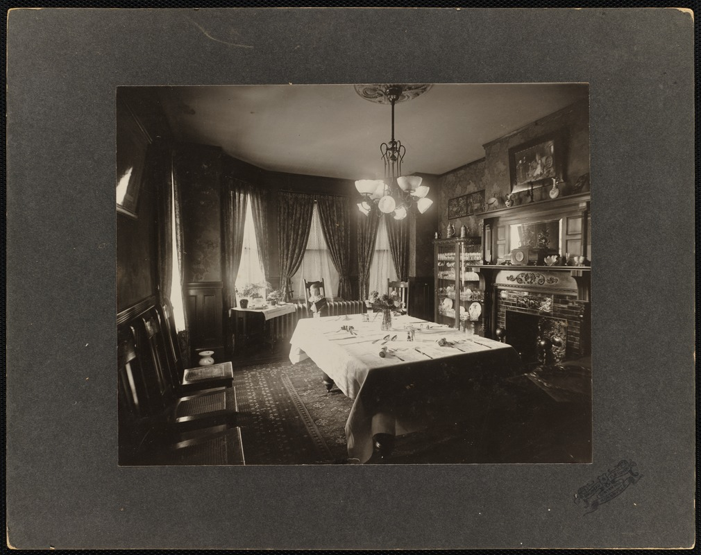 Interior view of a dining room