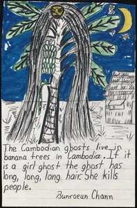 The Cambodian ghosts live in banana trees