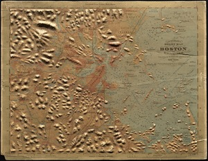 J. Schedler's relief map of Boston and environs