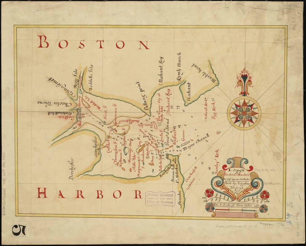 A draught of Boston Harbor by Capt. Cyprian Southake