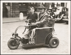 "Cambridge ""Sparks"" and his radio scooter"