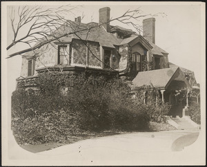 The Lowell home on Quincy Street, Cambridge
