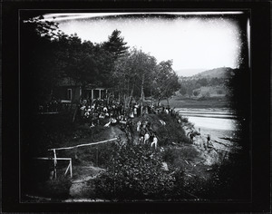 American Canoe Association regatta on the Connecticut River at the Sans Souci Clubhouse
