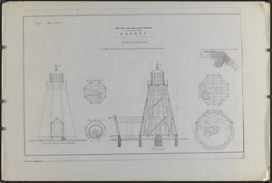 Design for two lighthouses to be erected at the Gurnet, Plymouth Harbour