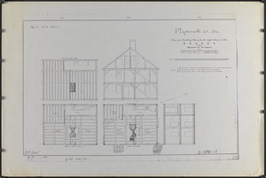 Plymouth Lt. Sta., plan of a dwelling house for the light keeper at the Gurnet in the harbour of Plymouth, Mass.