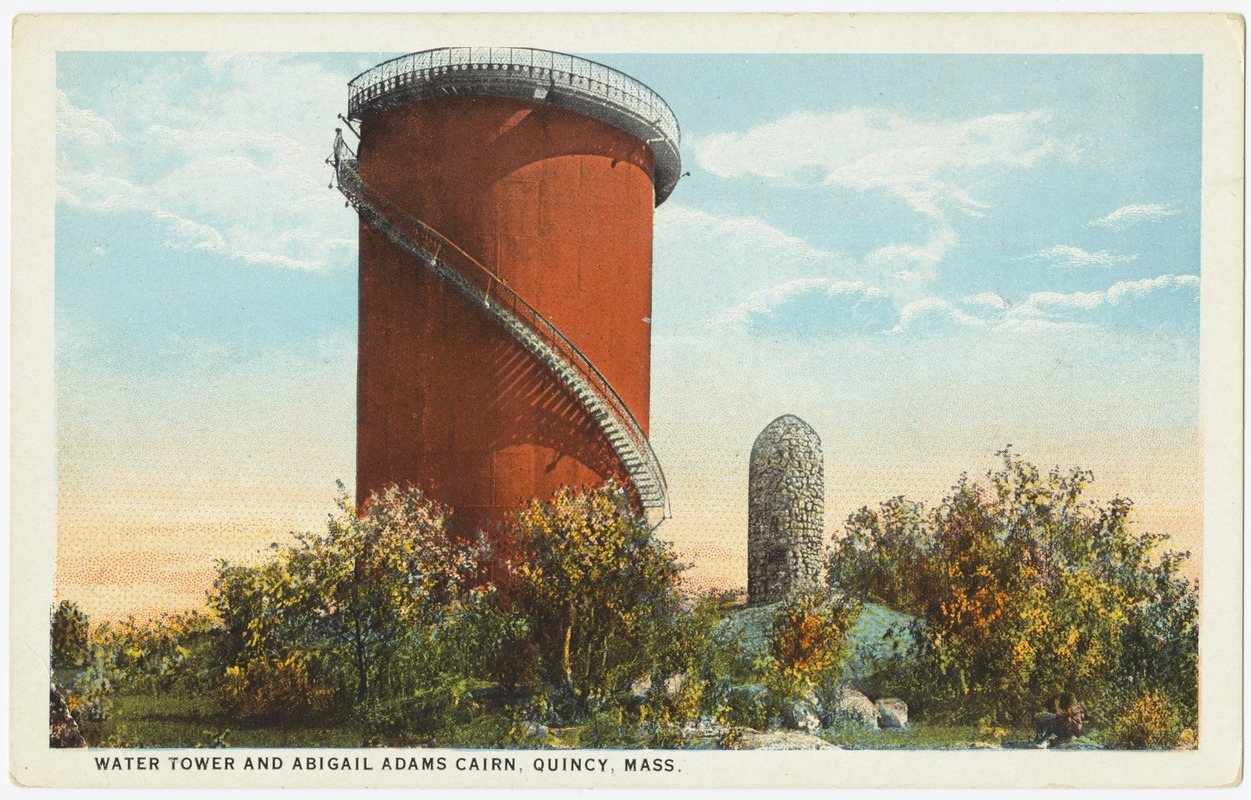 Water Tower and Abigail Adams Cairn, Quincy, Mass.