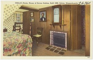 Clifford's room, House of Seven Gables, built, 1668, Salem, Mass.