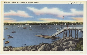 Harbor scene at Salem Willows, Mass.