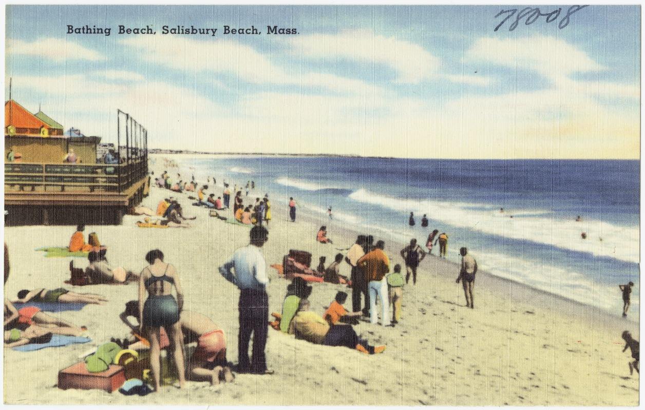Bathing beach, Salisbury Beach, Mass.