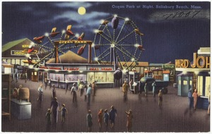 Ocean Park at night, Salisbury Beach, Mass.